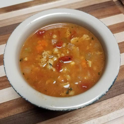 tomato barley turkey soup