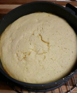 lemon sticky cake in pan