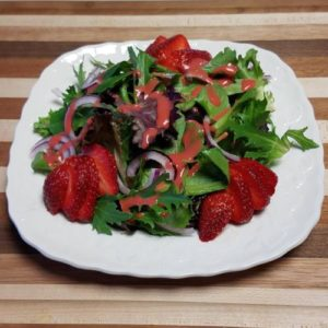 Mixed Spring Greens Salad with Strawberries