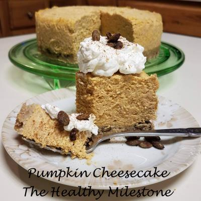 pumpkin cheesecake with spiced pepitas