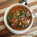 turkey tomato florentine soup