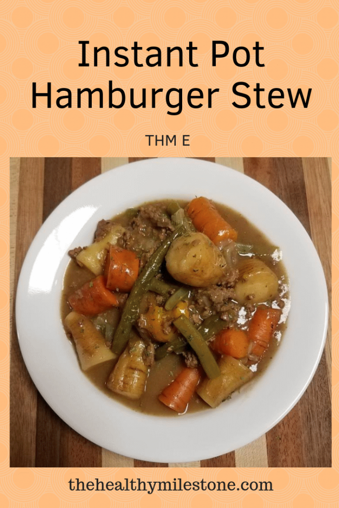 Instant Pot Hamburger Stew Pinterest