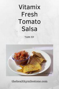 Vitamix fresh tomato salsa pinterest image