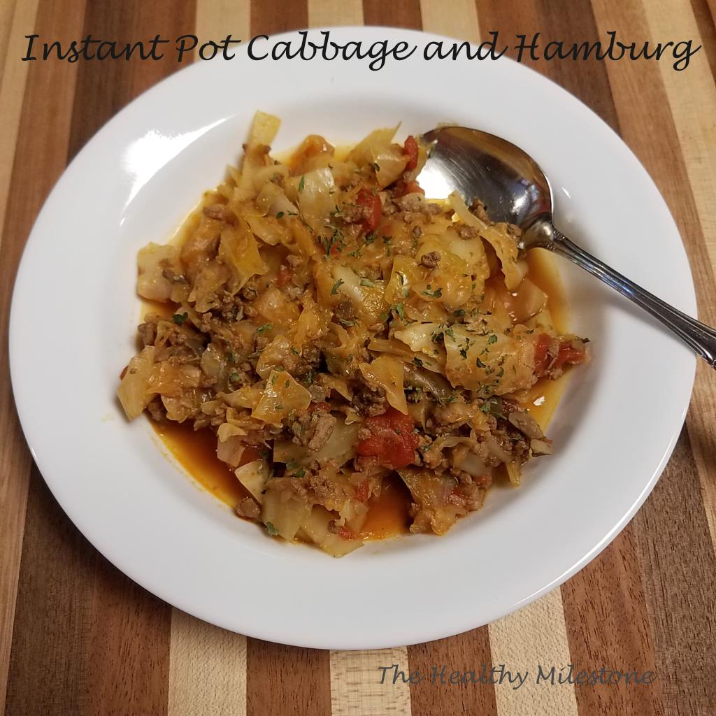 Instant Pot Cabbage and Hamburg